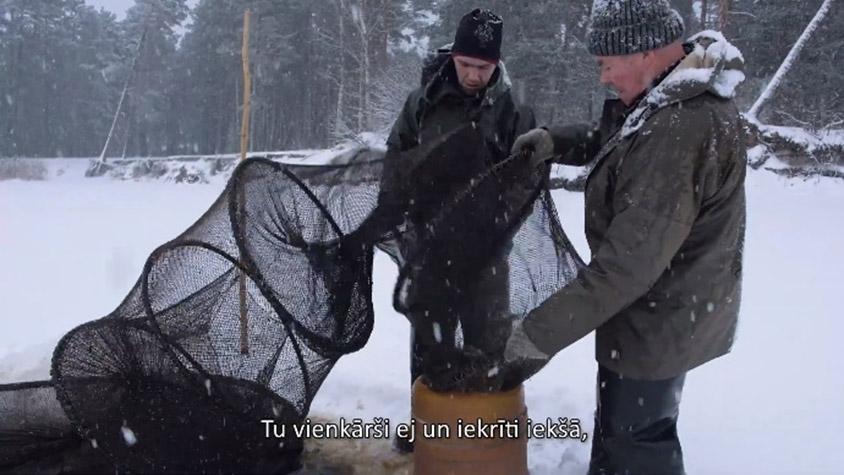 Nēģu zveja ziemā